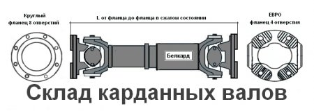 АКСМ-2201010 вал карданный троллейбуса АКСМ