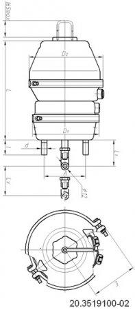 20.3519100-02 энергоаккумулятор Кам-АЗ (тип 20/20)