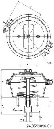 24.3519010-01 камера тормозная МАЗ (тип 24)