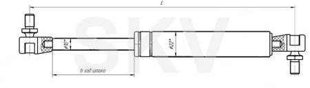 11.6308010-10 пружина газовая (упор газовый)