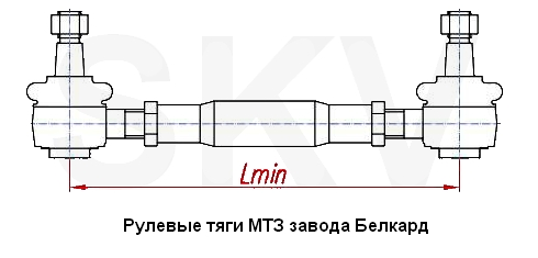 тяга рулевая МТЗ 1220-3003010.80-3003010.822-3003010