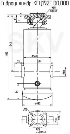 КГЦ192П.00.000 гидроцилиндр подъема кузова