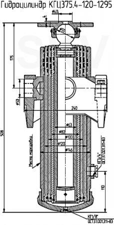 КГЦ375.4-120-1295 гидроцилиндр прицепа ПТ-6/2