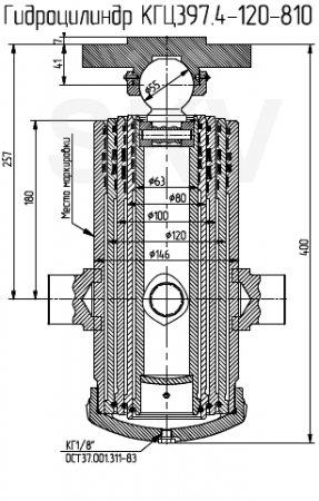 КГЦ397.4-120-810 гидроцилиндр 55102-8603010-01