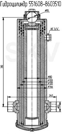 551608-8603510 гидроцилиндр подъема кузова МАЗ