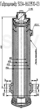 503А-8603510-03 гидроцилиндр подъема кузова МАЗ