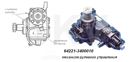 64221-3400010 механизм рулевой МАЗ, МАЗ-4370, АМАЗ-256