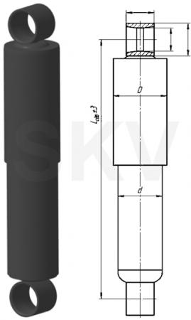 А1-275/460.2905006-01 амортизатор КамАЗ; ПАЗ