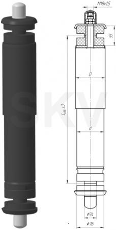 101.2905006-01 амортизатор подвески АМАЗ; Неоплан
