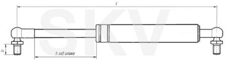 14.6308010 пружина газовая АМАЗ (упор газовый)