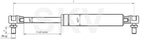 11.8407010-40 пружина газовая МАЗ (упор газовый)